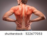 back view of athlete man torso... | Shutterstock . vector #522677053
