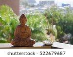 Closeup Of Buddha And Incense...