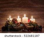 Advent  Wreath With Four...