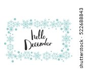 hello december. print design | Shutterstock .eps vector #522688843