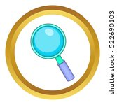 magnifying glass vector icon in ... | Shutterstock .eps vector #522690103