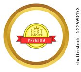 best choice label vector icon... | Shutterstock .eps vector #522690493