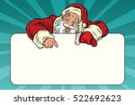 santa claus character shows on... | Shutterstock .eps vector #522692623