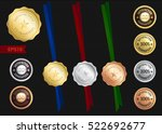 set of satisfaction guarantee...   Shutterstock .eps vector #522692677