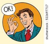 joyful businessman ok gesture ...   Shutterstock .eps vector #522697717