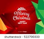 vector happy new year design  ... | Shutterstock .eps vector #522700333