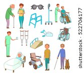 disability people care icons... | Shutterstock .eps vector #522706177