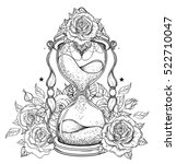 decorative antique hourglass... | Shutterstock .eps vector #522710047