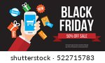 black friday sale. online... | Shutterstock .eps vector #522715783