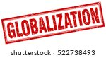 globalization. stamp. square... | Shutterstock .eps vector #522738493