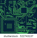 High Tech Circuit Board Vector...