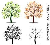 Seasons Of Tree Vector...