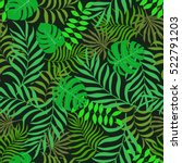 tropical background with palm... | Shutterstock .eps vector #522791203