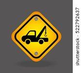 truck crane yellow road street... | Shutterstock .eps vector #522792637