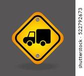 truck yellow road street sign... | Shutterstock .eps vector #522792673