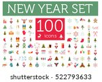 christmas  new year holidays... | Shutterstock .eps vector #522793633