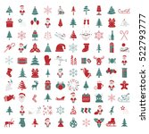 christmas  new year holidays... | Shutterstock .eps vector #522793777