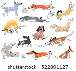 hand drawn doodle cute dogs.... | Shutterstock .eps vector #522801127