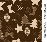seamless pattern of christmas... | Shutterstock .eps vector #522805933