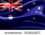 australia flag of silk 3d... | Shutterstock . vector #522812017