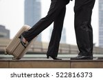 close up a couple hug and kiss... | Shutterstock . vector #522816373