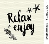 conceptual hand drawn phrase... | Shutterstock .eps vector #522822127