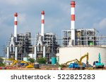 construction of thermal power... | Shutterstock . vector #522825283