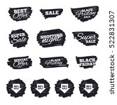 ink brush sale stripes and... | Shutterstock . vector #522831307