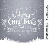 christmas and new year... | Shutterstock . vector #522832657