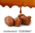 caramel candies and sauce... | Shutterstock . vector #522838867