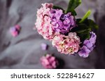 Soft Hydrangea Flowers With...