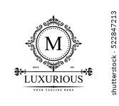 luxury logo template in vector...   Shutterstock .eps vector #522847213