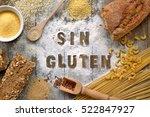 gluten free flour and cereals...   Shutterstock . vector #522847927