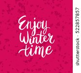 christmas card template. hand... | Shutterstock .eps vector #522857857