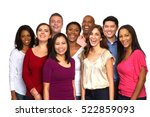 multiethnic group of people. | Shutterstock . vector #522859093