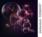 soap bubbles on purple... | Shutterstock .eps vector #522860437
