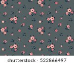 cute floral pattern in the... | Shutterstock .eps vector #522866497