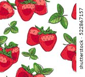 seamless tropical pattern with... | Shutterstock .eps vector #522867157