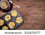 breakfast egg muffins with... | Shutterstock . vector #522870277