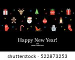 christmas seamless ornament... | Shutterstock .eps vector #522873253