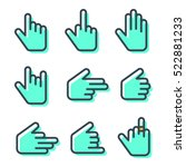 hand cursor icons pack.... | Shutterstock .eps vector #522881233