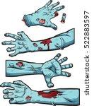 zombie hands. vector clip art... | Shutterstock .eps vector #522883597