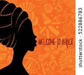 ethnic background with african... | Shutterstock .eps vector #522886783