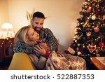 couple cuddling and enjoying... | Shutterstock . vector #522887353