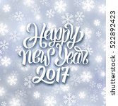 happy new year lettering on... | Shutterstock .eps vector #522892423
