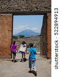 Small photo of POMPEI, ITALY - MAY 14, 2015, eternal city.
