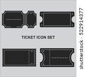 ticket icon set vector | Shutterstock .eps vector #522914377