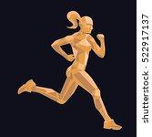 vector triangles  lines  runner | Shutterstock .eps vector #522917137