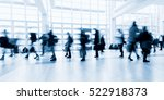 blurred people in business... | Shutterstock . vector #522918373