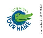vector logo crocodile water... | Shutterstock .eps vector #522923143